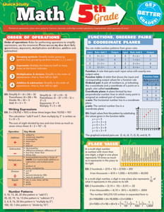 Quick Study QuickStudy Math: 5th Grade Laminated Study Guide BarCharts Publishing Mathematics Study Outline Cover Image