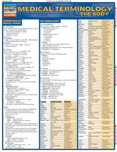QuickStudy | Medical Terminology: The Body Laminated Study Guide