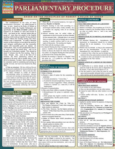 QuickStudy | Parliamentary Procedure Laminated Reference Guide