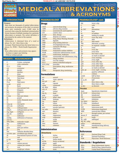 QuickStudy | Medical Abbreviations & Acronyms Laminated Reference Guide