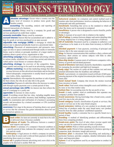 QuickStudy | Business Terminology Laminated Reference Guide