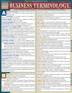 Quick Study QuickStudy Business Terminology Laminated Study Guide BarCharts Publishing Business Reference Cover Image