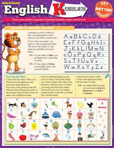 QuickStudy | English: Kindergarten Laminated Study Guide