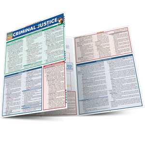 Quick Study QuickStudy Criminal Justice Laminated Reference Guide BarCharts Publishing Study Guide Main Image
