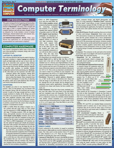 Quick Study QuickStudy Computer Terminology Laminated Study Guide BarCharts Publishing Tech Guide Cover Image