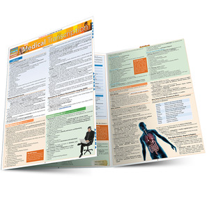 Quick Study QuickStudy Medical Transcription Laminated Reference Guide BarCharts Publishing Medical Guide Main Image
