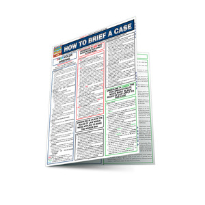 QuickStudy | How To Brief A Case Laminated Reference Guide