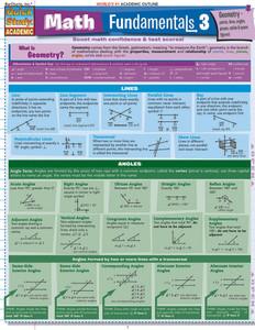 QuickStudy | Math Fundamentals 3 Laminated Study Guide