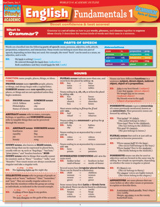 QuickStudy | English Fundamentals 1 Laminated Study Guide