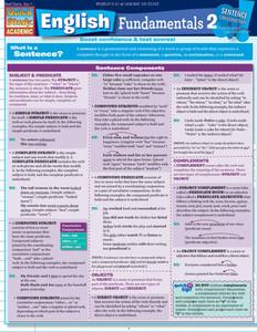QuickStudy | English Fundamentals 2 Laminated Study Guide