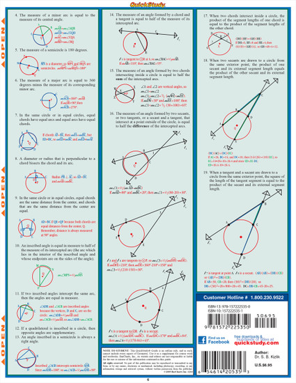 QuickStudy | Geometry Part 2 Laminated Study Guide