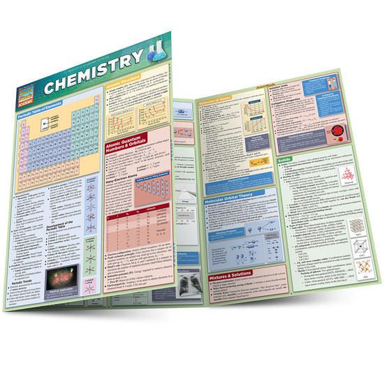 Quick Study QuickStudy Chemistry Laminated Study Guide BarCharts Publishing Chemistry Academic Guide Main Image