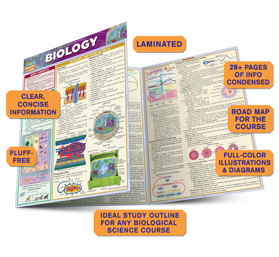 Quick Study QuickStudy Biology Laminated Study Guide BarCharts Publishing Biology Reference Guide Benefits