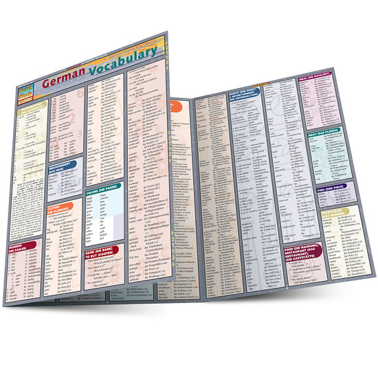 Quick Study QuickStudy German Vocabulary Laminated Study Guide BarCharts Publishing German Language Main Image