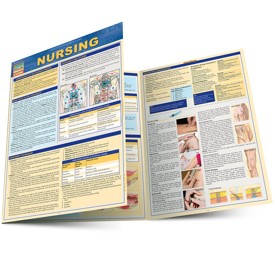 QuickStudy Quick Study Nursing Laminated Study Guide BarCharts Publishing Medical Reference Guide Main Image
