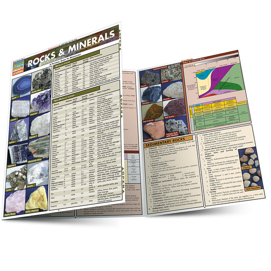 Quick Study QuickStudyRocks & Minerals Laminated Study Guide BarCharts Publishing Science Reference Guide Main Image