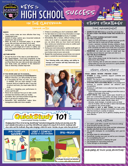QuickStudy | Keys To High School Success Digital Reference Guide