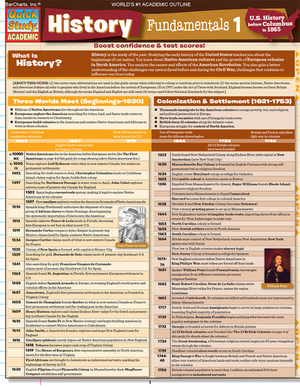 QuickStudy | History Fundamentals 1 Digital Study Guide