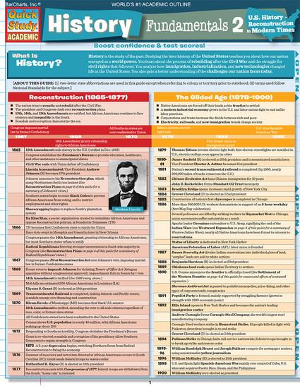 QuickStudy   History Fundamentals 2 Digital Study Guide