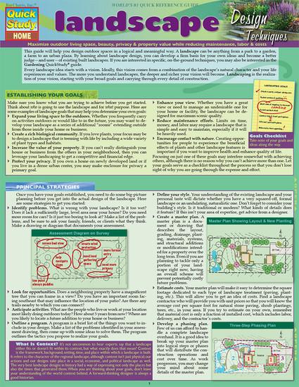 QuickStudy | Landscape Design Digital Reference Guide