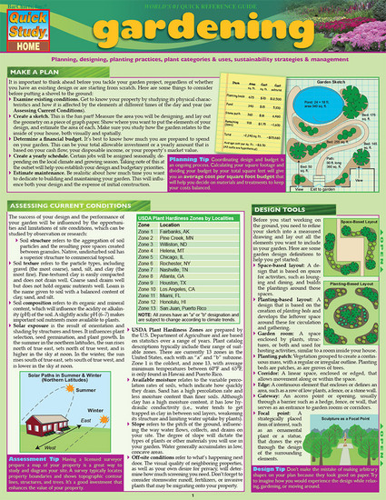 QuickStudy | Gardening Digital Reference Guide