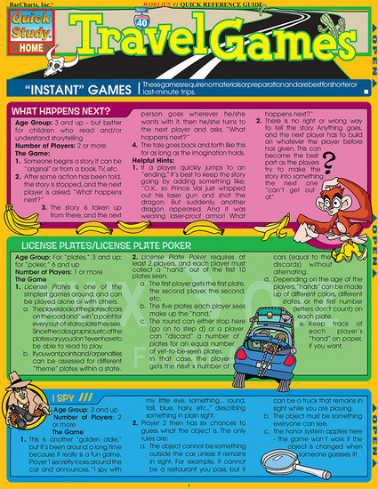 QuickStudy   Travel Games Digital Reference Guide