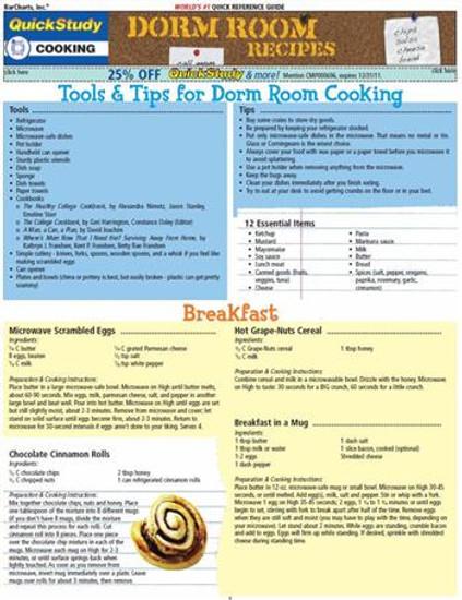 QuickStudy | Dorm Room Recipes Digital Reference Guide
