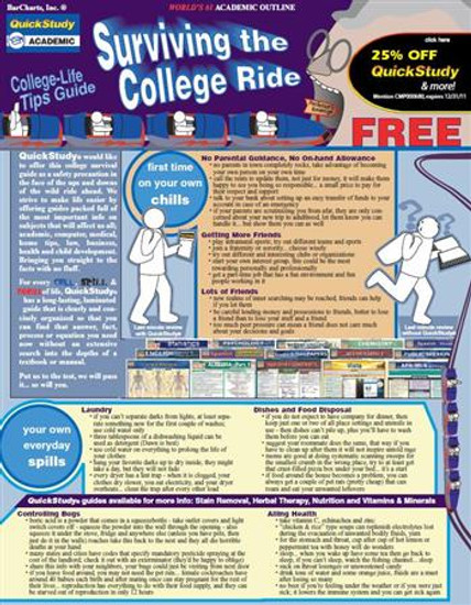 QuickStudy | Surviving The College Ride Digital Reference Guide