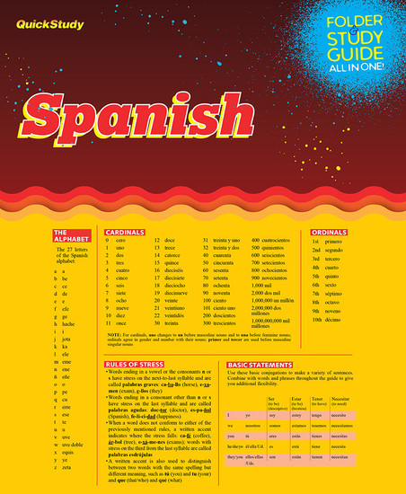QuickStudy   Spanish Study Folder