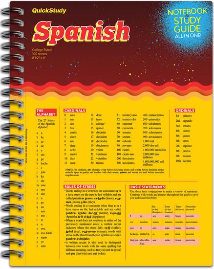 QuickStudy | Spanish Spiral Notebook