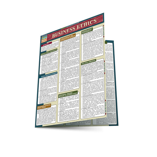 Quick Study QuickStudy Business Ethics Laminated Study Guide BarCharts Publishing Business Reference Main Image