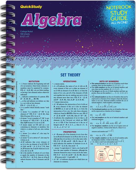 QuickStudy | Algebra Spiral Notebook