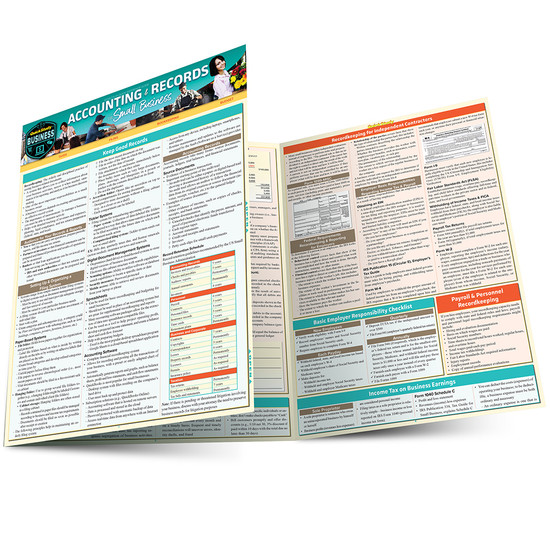 QuickStudy | Accounting & Records for Small Business Laminated Reference Guide