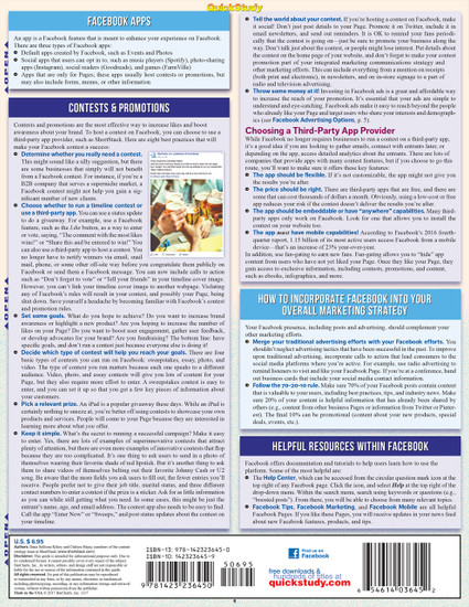 Quick Study QuickStudy Facebook Laminated Reference Guide BarCharts Publishing Social Media Reference Back Image