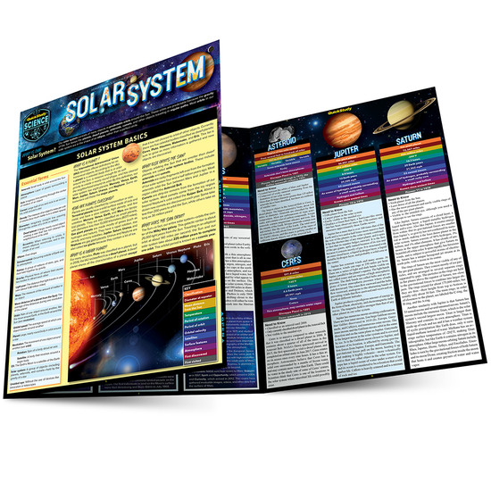 Quick Study QuickStudy Solar System Laminated Study Guide BarCharts Publishing Astronomy Science Reference Main Image