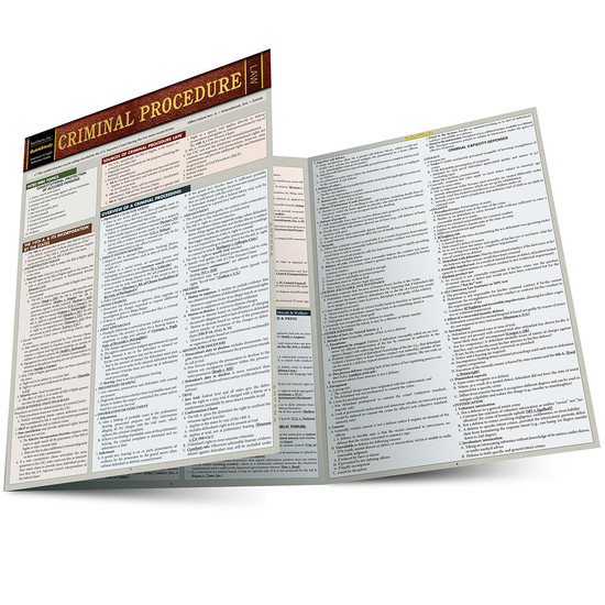 QuickStudy | Criminal Procedure Laminated Study Guide