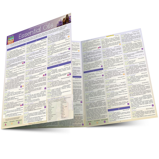 QuickStudy Quick Study Essential Oils Laminated Reference Guides Health BarCharts Publishing Guide Main Image