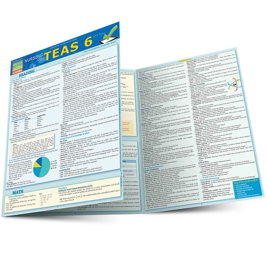 Quick Study QuickStudy Nursing TEAS6 Laminated Study Guide BarCharts Publishing Inc Academic Main Image