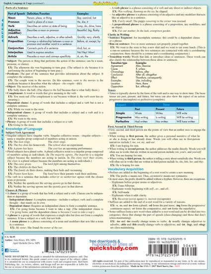 Quick Study QuickStudy Nursing TEAS6 Laminated Study Guide BarCharts Publishing Inc Academic Guide Back