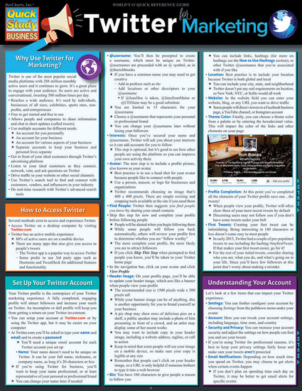 QuickStudy | Twitter Marketing Laminated Reference Guide