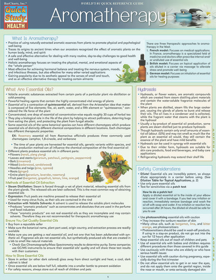 QuickStudy   Aromatherapy Laminated Reference Guide
