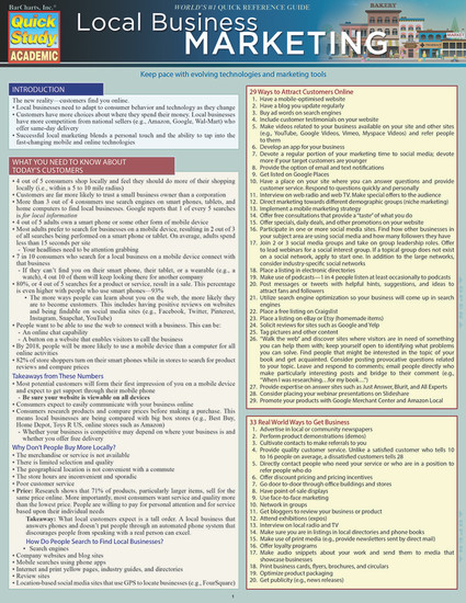 QuickStudy | Local Business Marketing Laminated Reference Guide