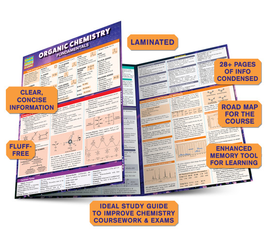 Quick Study QuickStudy Organic Chemistry Fundamentals Laminated Study Guide BarCharts Publishing Guide Benefits