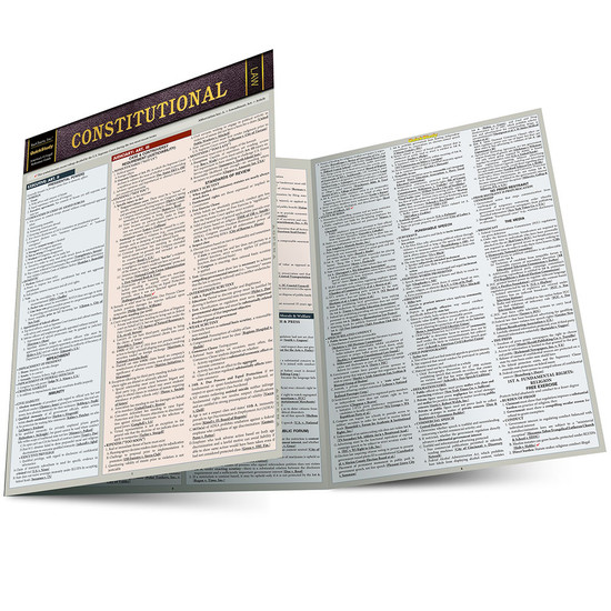 Quick Study QuickStudy Constitutional Law Laminated Reference Guide BarCharts Publishing Legal Guide Main Image