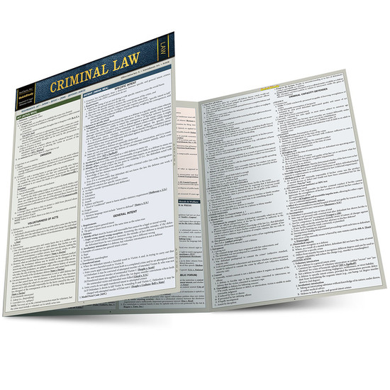 QuickStudy | Criminal Law Laminated Study Guide