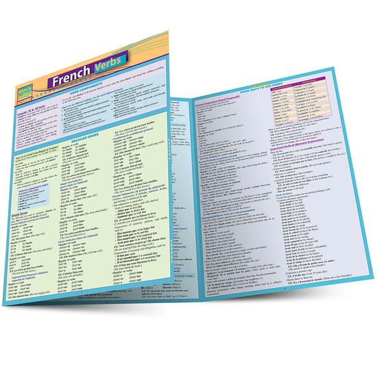 QuickStudy | French Verbs Laminated Study Guide