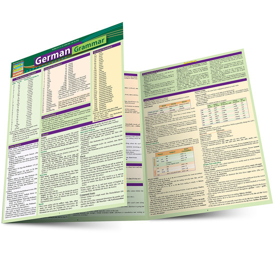 QuickStudy Quick Study German Grammar Laminated Study Guide BarCharts Publishing Foreign Languages Main Image
