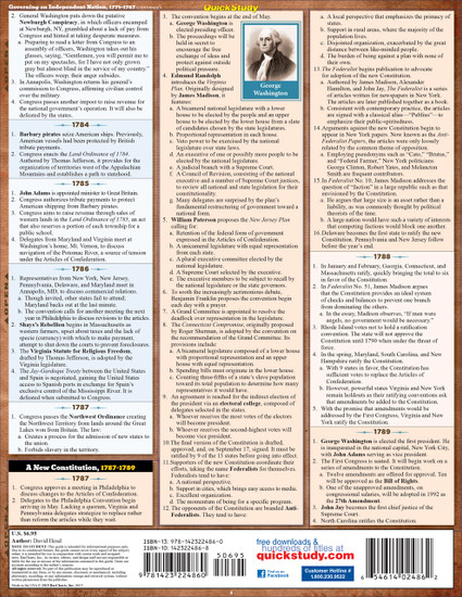 Quick Study QuickStudy American Revolutionary War Laminated Study Guide BarCharts Publishing Guide Back Image
