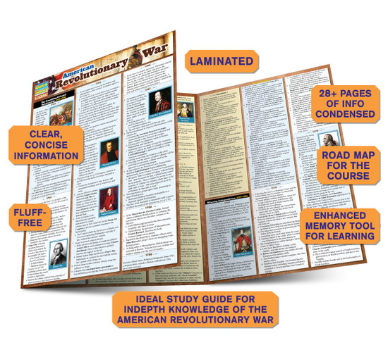 Quick Study QuickStudy American Revolutionary War Laminated Study Guide BarCharts Publishing Guide Benefits