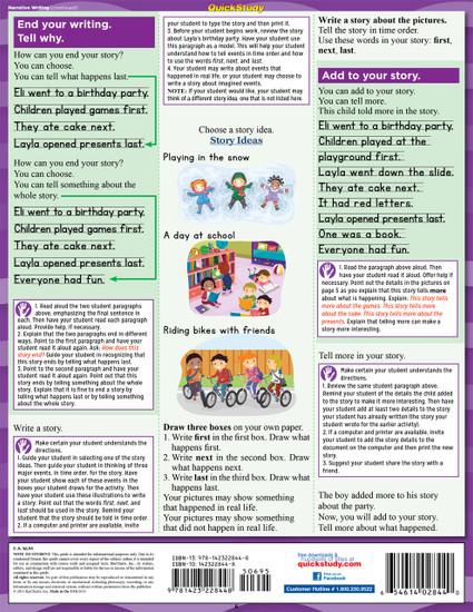 QuickStudy   Writing: Common Core - 1st Grade Laminated Study Guide